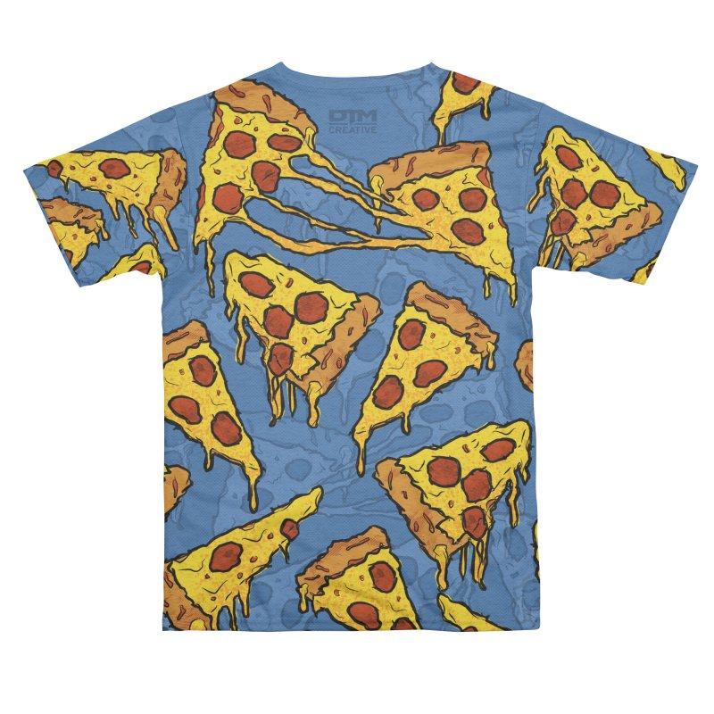 Gooey Pizza Pattern Men's Cut & Sew by DTM Creative