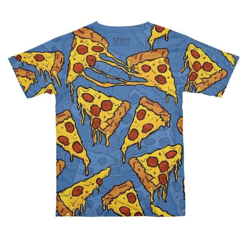 Gooey Pizza Pattern Women's Cut & Sew by DTM Creative