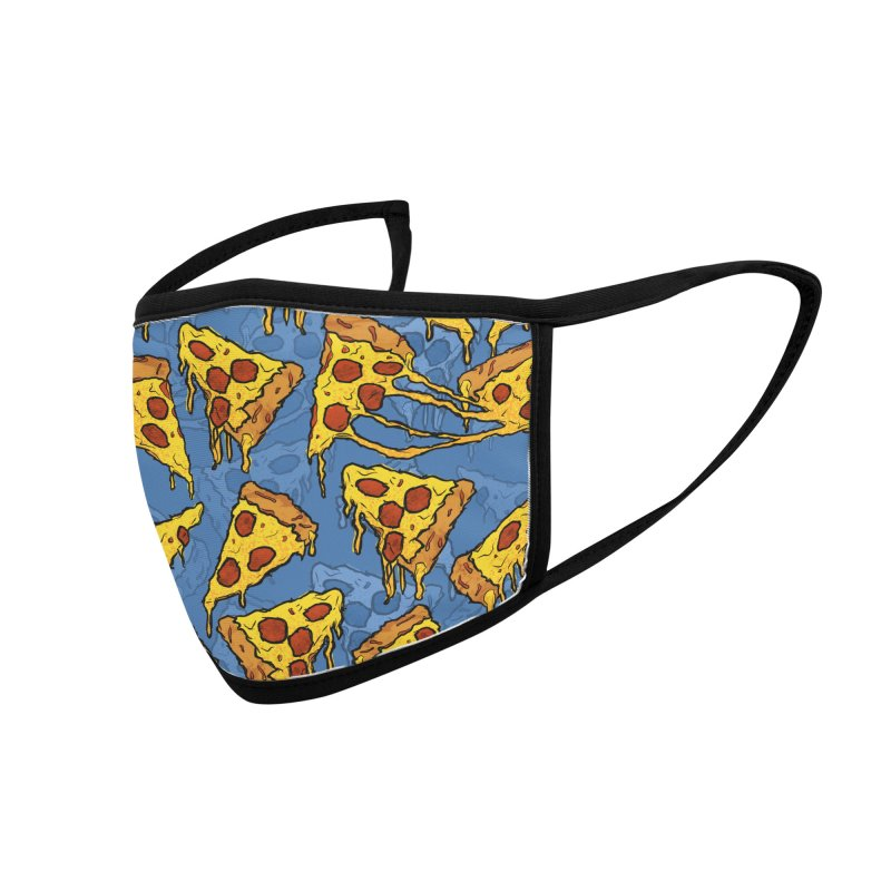 Gooey Pizza Pattern Accessories Face Mask by DTM Creative