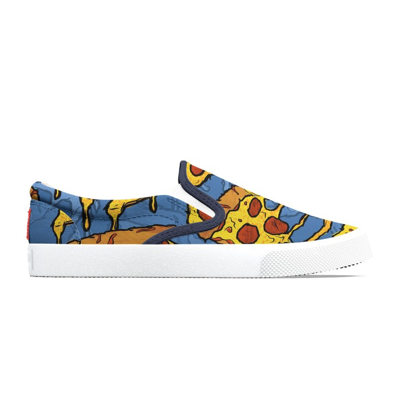 Gooey Pizza Pattern Men's Shoes by DTM Creative