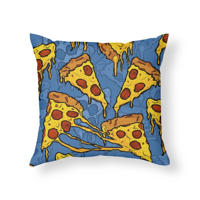 Gooey Pizza Pattern Home Throw Pillow by DTM Creative