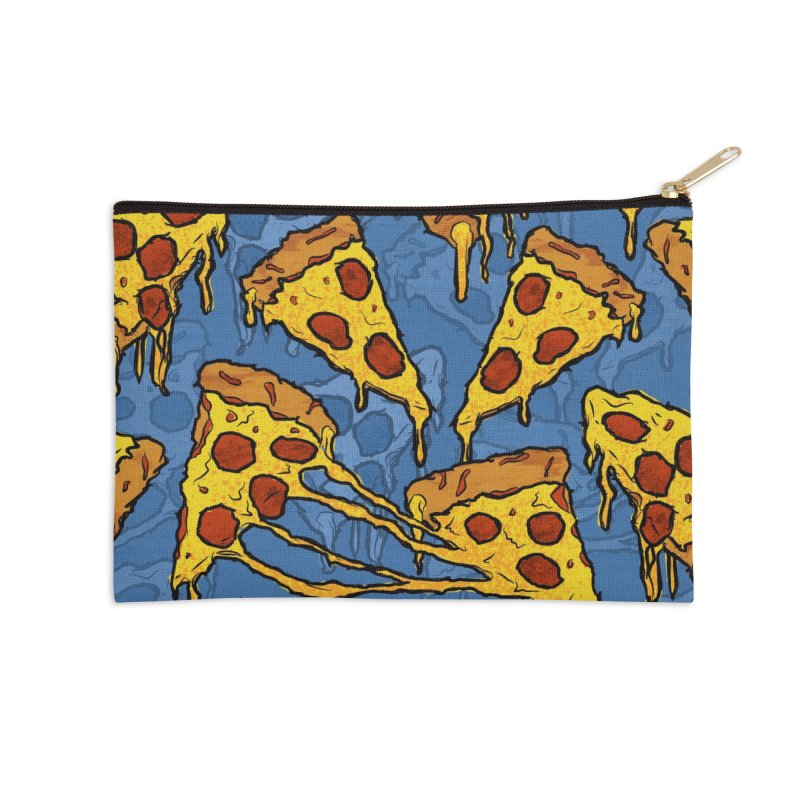 Gooey Pizza Pattern Accessories Zip Pouch by DTM Creative