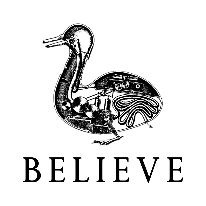 Duck Robot - Believe Men's T-Shirt by DUBROBOT - The Time Transportation Authority