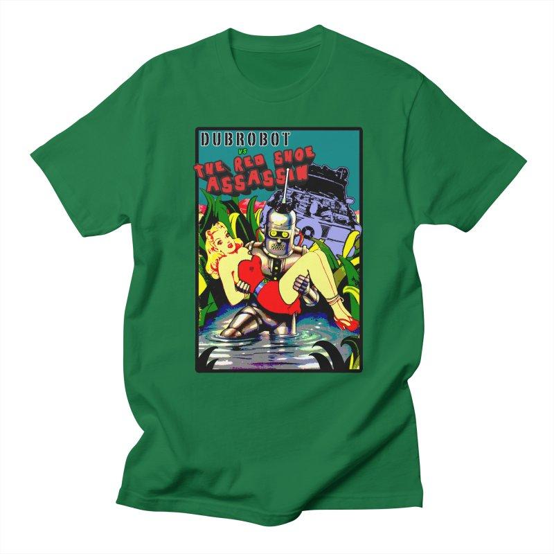 DUBROBOT vs The Red Shoe Assassin Men's T-Shirt by DUBROBOT - The Time Transportation Authority