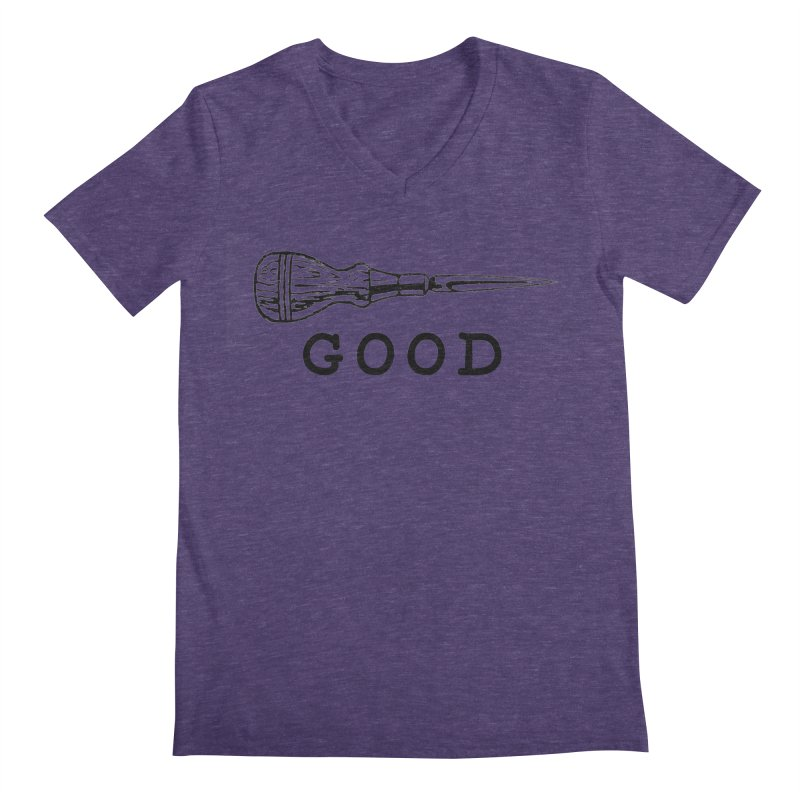 AWL GOOD Men's V-Neck by DUBROBOT - The Time Transportation Authority