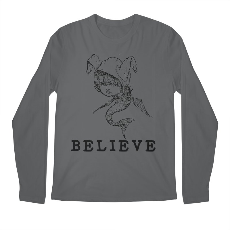 I Believe  Men's Longsleeve T-Shirt by DUBROBOT - The Time Transportation Authority