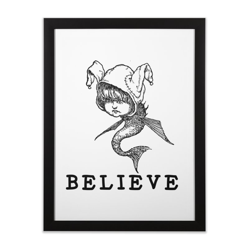 I Believe  Home Framed Fine Art Print by DUBROBOT - The Time Transportation Authority