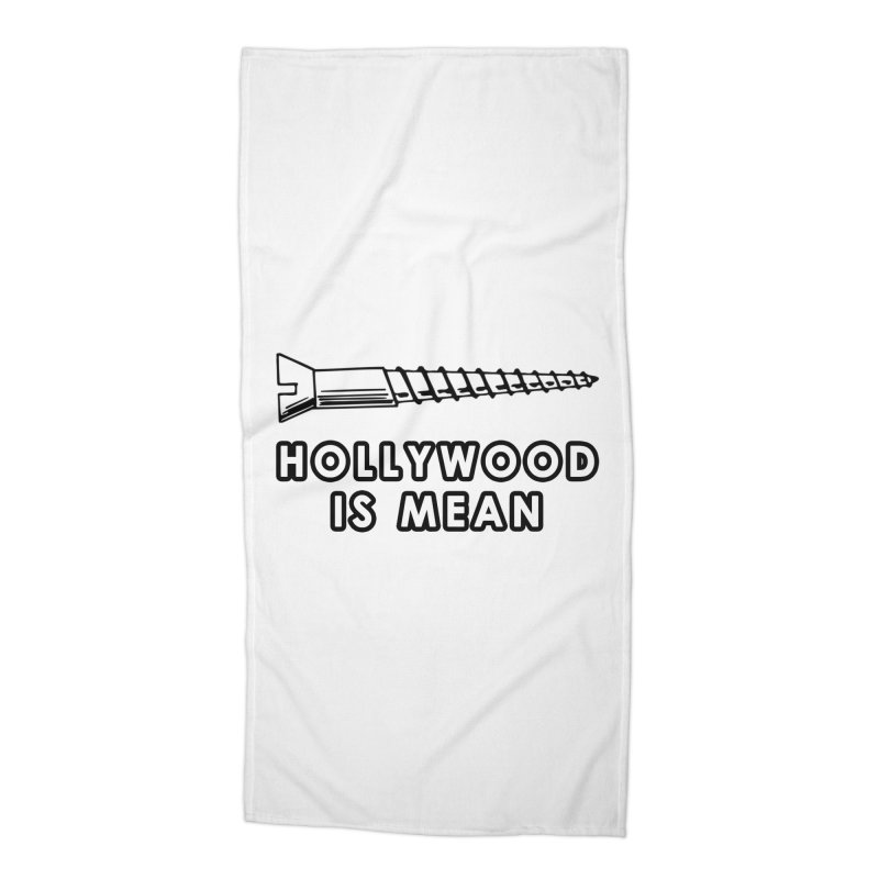HOLLYWOOD IS MEAN - Screwed... Again Accessories Beach Towel by DUBROBOT - The Time Transportation Authority