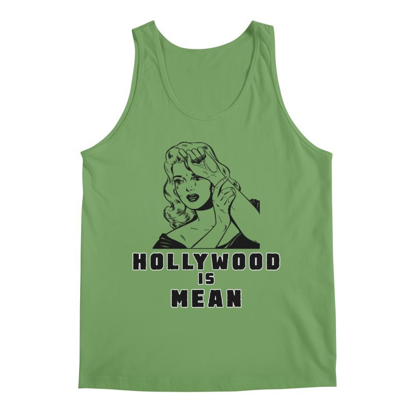HOLLYWOOD IS MEAN - Crying Girl Men's Tank by DUBROBOT - The Time Transportation Authority