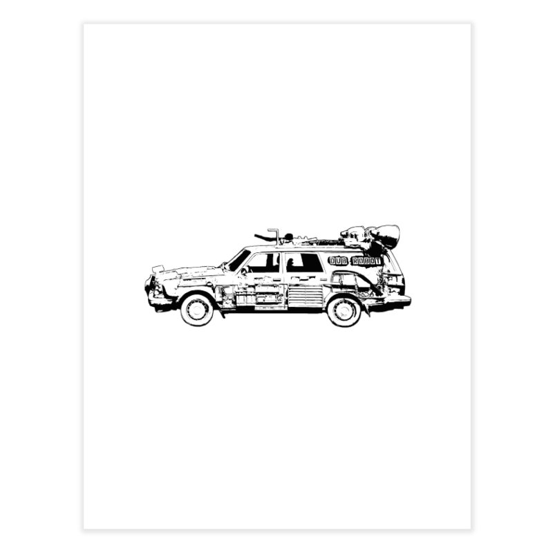 The Lander Home Fine Art Print by DUBROBOT - The Time Transportation Authority