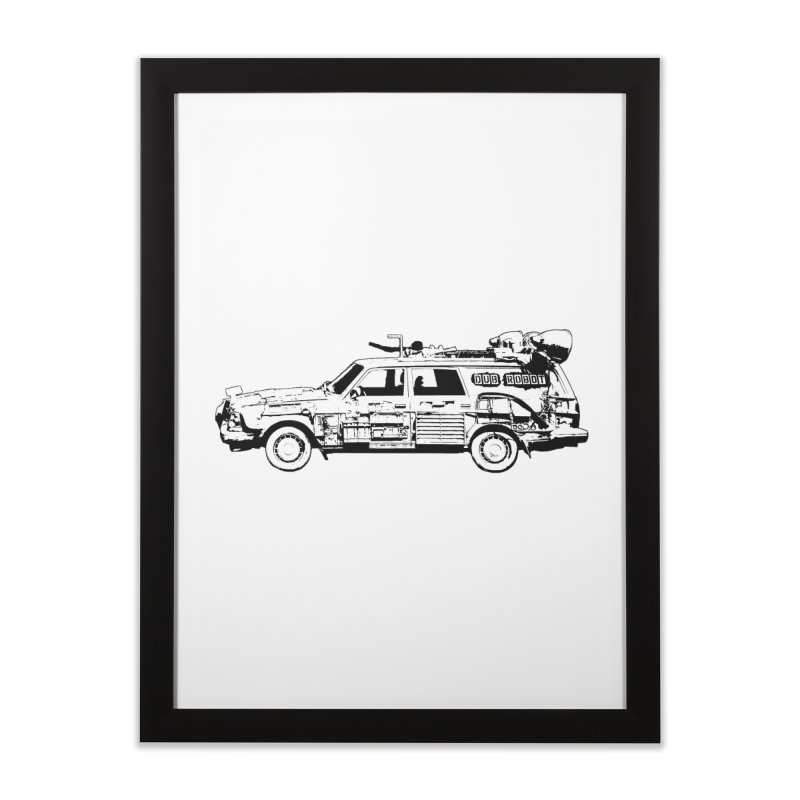 The Lander Home Framed Fine Art Print by DUBROBOT - The Time Transportation Authority