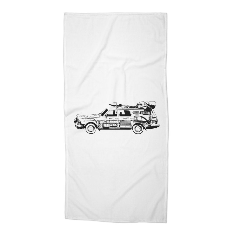 The Lander Accessories Beach Towel by DUBROBOT - The Time Transportation Authority