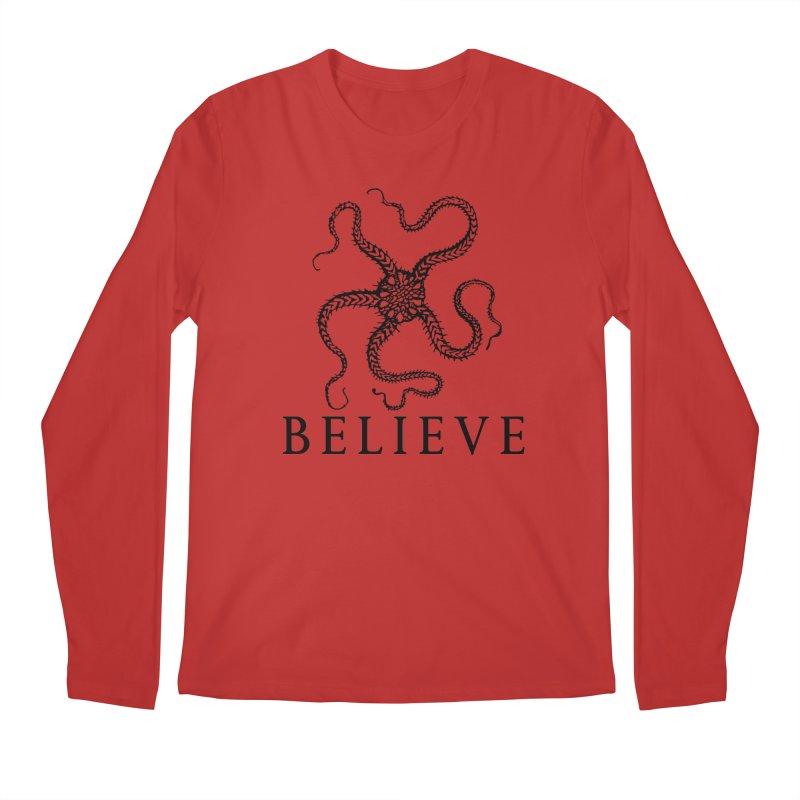 Ocean Believe Men's Longsleeve T-Shirt by DUBROBOT - The Time Transportation Authority