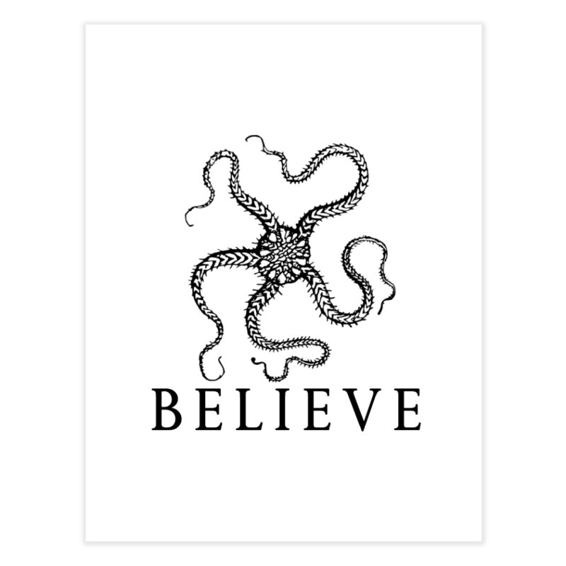 Ocean Believe Home Fine Art Print by DUBROBOT - The Time Transportation Authority