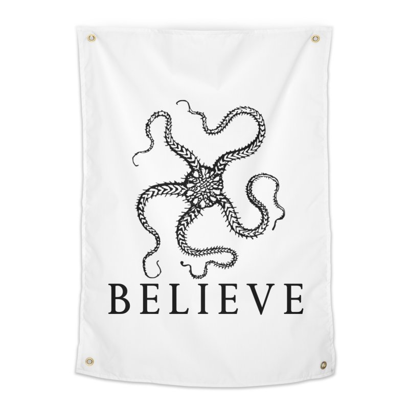 Ocean Believe Home Tapestry by DUBROBOT - The Time Transportation Authority