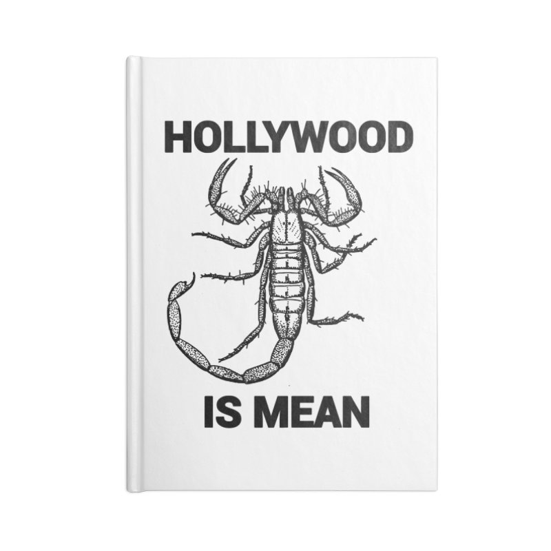 HOLLYWOOD IS MEAN - Scorpion Accessories Notebook by DUBROBOT - The Time Transportation Authority