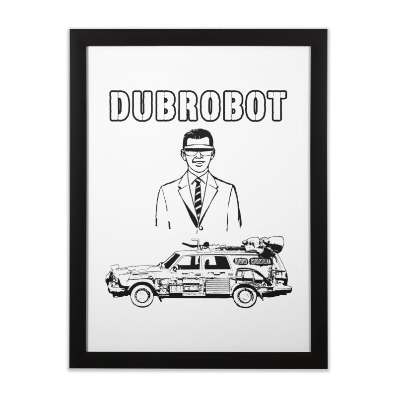 DUBROBOT - Time Goggles Home Framed Fine Art Print by DUBROBOT - The Time Transportation Authority