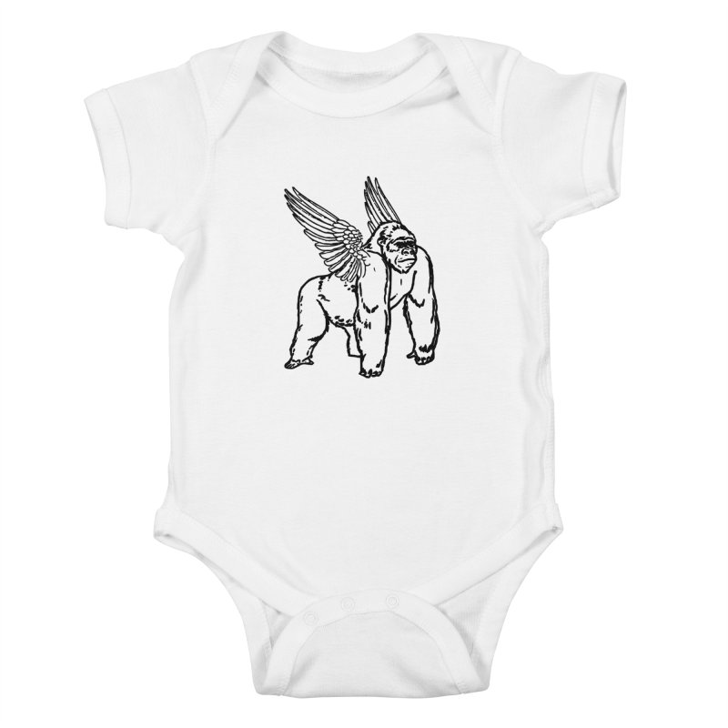 Gorillangel Kids Baby Bodysuit by DUBROBOT - The Time Transportation Authority