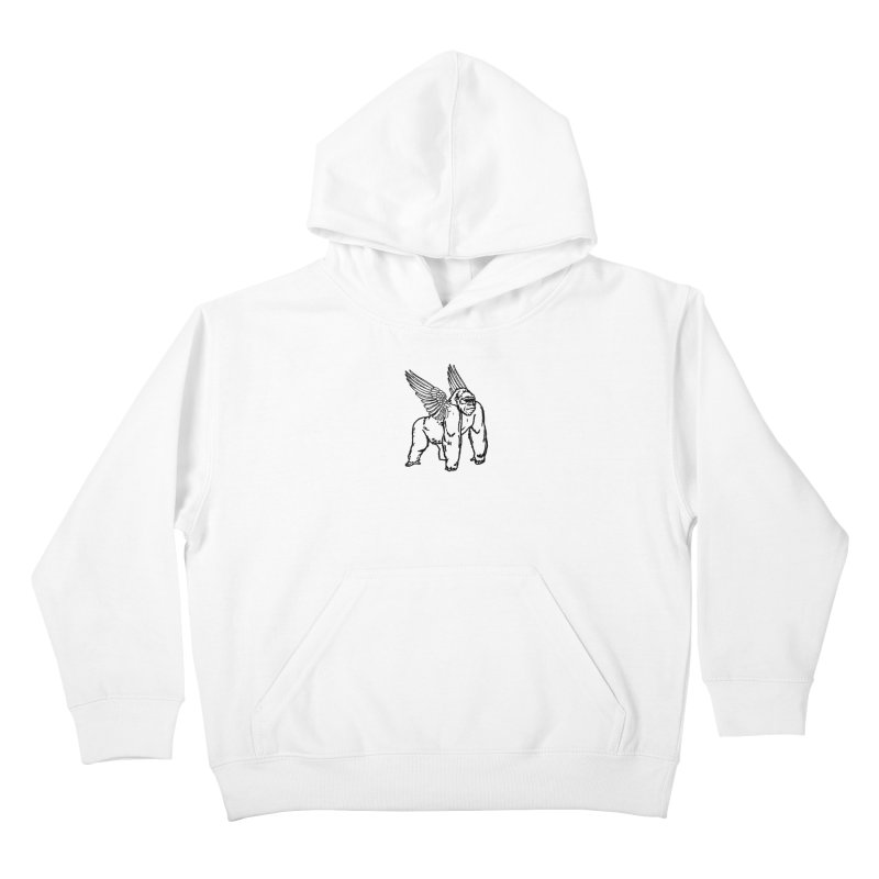 Gorillangel Kids Pullover Hoody by DUBROBOT - The Time Transportation Authority
