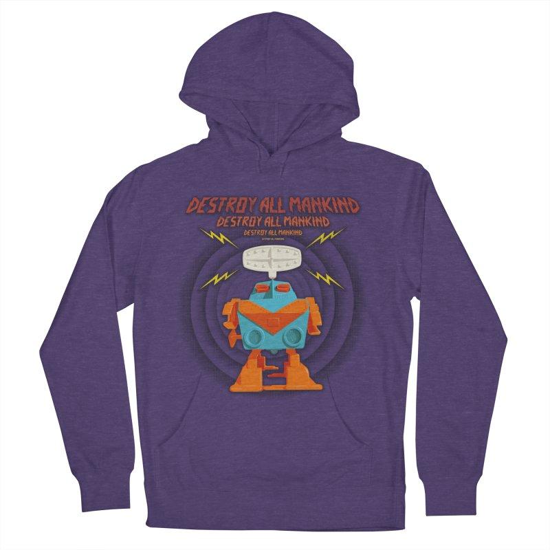 Robott Men's Pullover Hoody by dudesign's Artist Shop