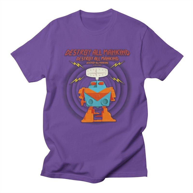 Robott Men's T-shirt by dudesign's Artist Shop