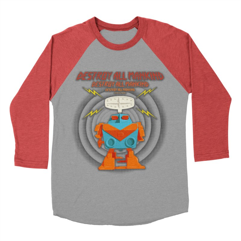 Robott Women's Baseball Triblend T-Shirt by dudesign's Artist Shop
