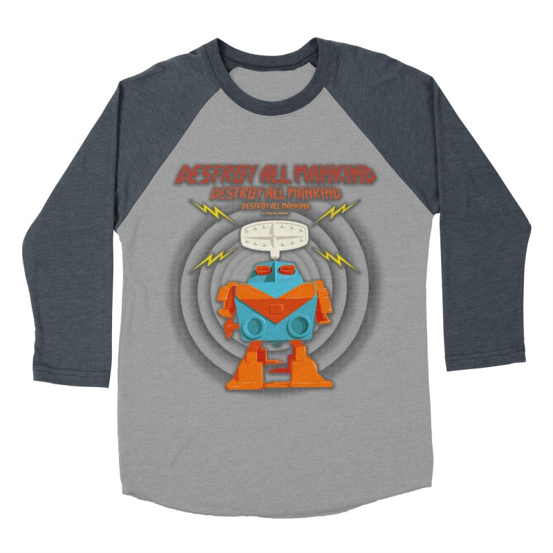 Robott Women's Baseball Triblend T-Shirt by dudesign's Artist Shop