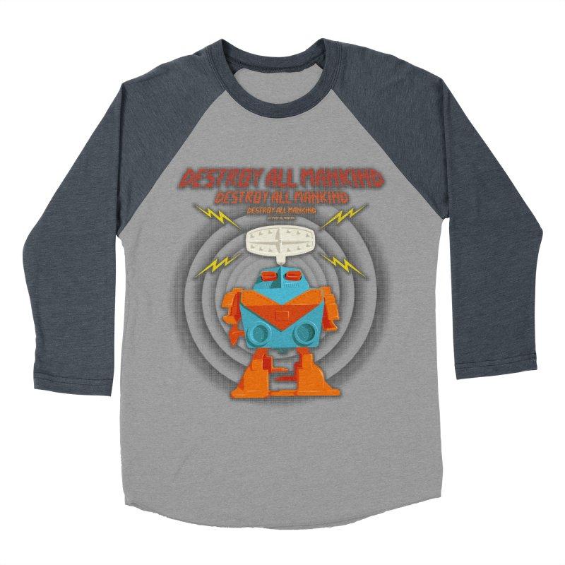Robott Men's Baseball Triblend T-Shirt by dudesign's Artist Shop