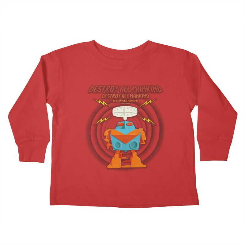 Robott Kids Toddler Longsleeve T-Shirt by dudesign's Artist Shop