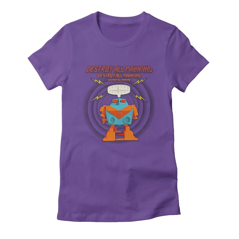 Robott Women's Fitted T-Shirt by dudesign's Artist Shop