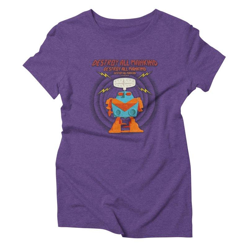 Robott Women's Triblend T-Shirt by dudesign's Artist Shop