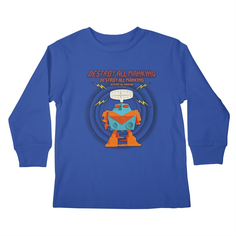 Robott Kids Longsleeve T-Shirt by dudesign's Artist Shop