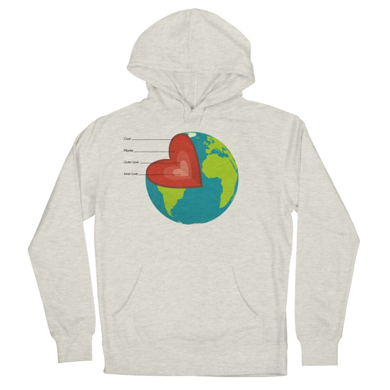 Love Earth Men's Pullover Hoody by dudesign's Artist Shop