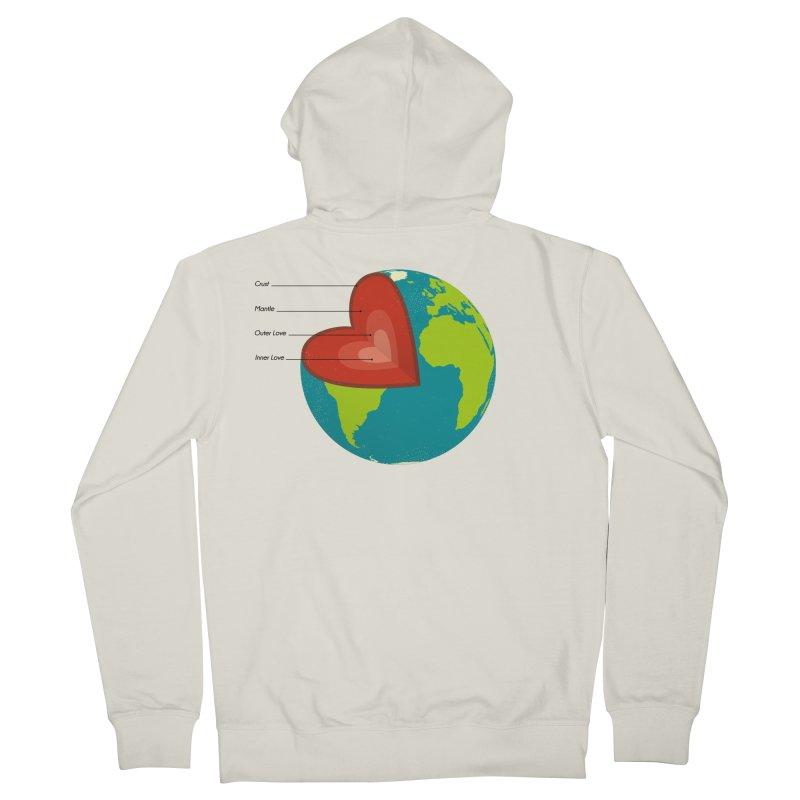 Love Earth Men's Zip-Up Hoody by dudesign's Artist Shop