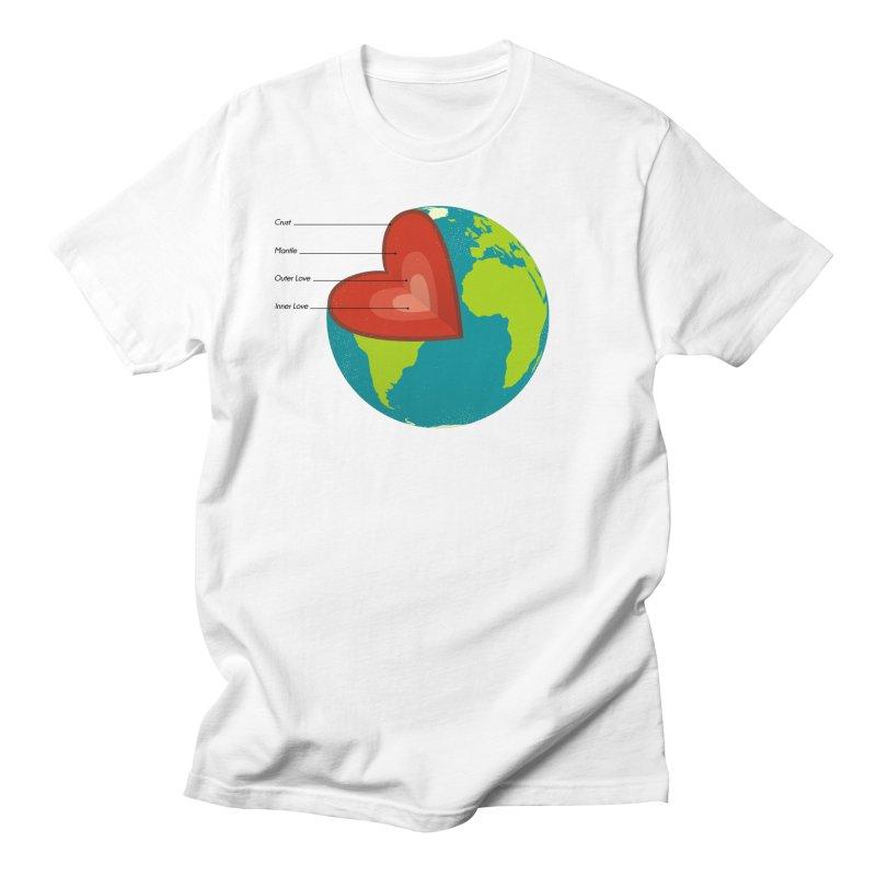 Love Earth Men's T-Shirt by dudesign's Artist Shop