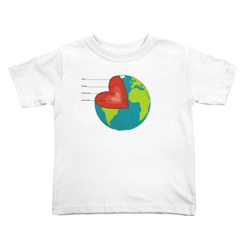Love Earth Kids Toddler T-Shirt by dudesign's Artist Shop