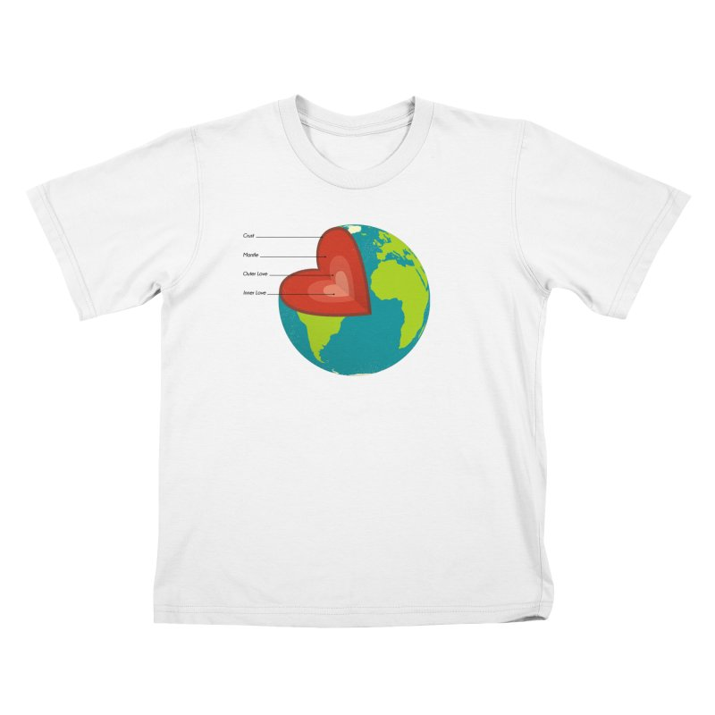 Love Earth Kids T-Shirt by dudesign's Artist Shop