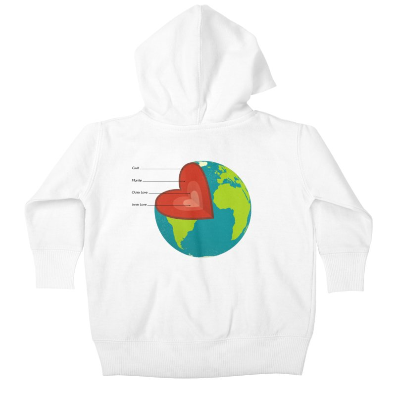 Love Earth Kids Baby Zip-Up Hoody by dudesign's Artist Shop