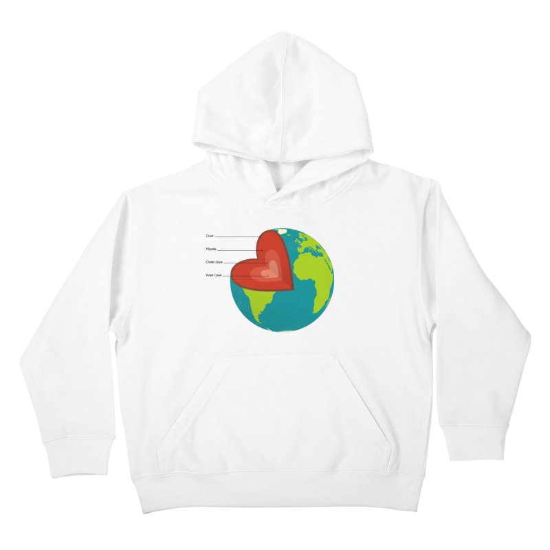 Love Earth Kids Pullover Hoody by dudesign's Artist Shop