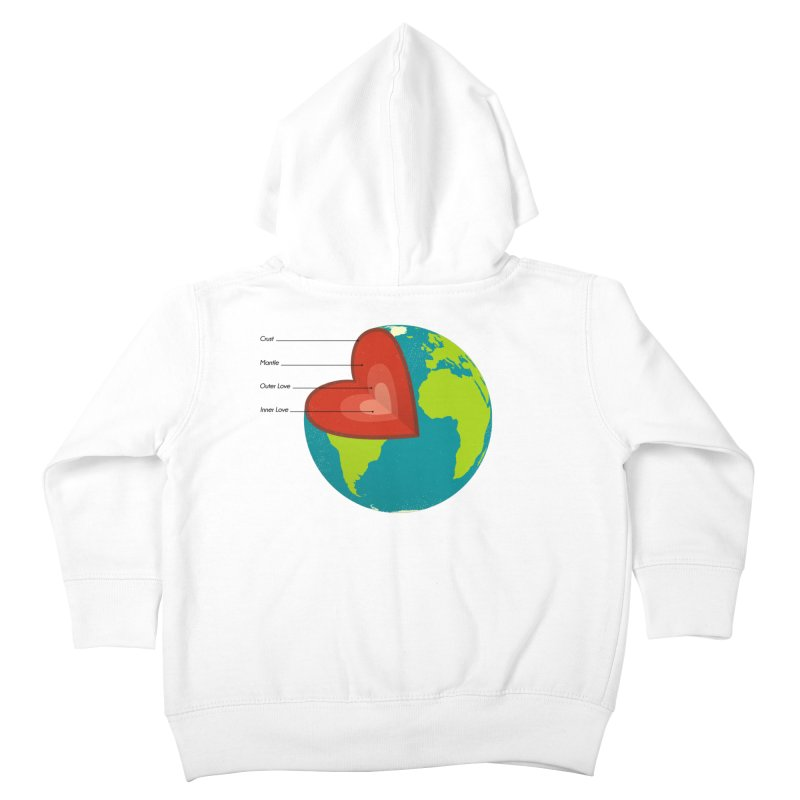 Love Earth Kids Toddler Zip-Up Hoody by dudesign's Artist Shop