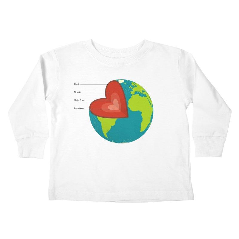 Love Earth Kids Toddler Longsleeve T-Shirt by dudesign's Artist Shop