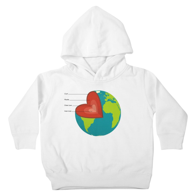 Love Earth Kids Toddler Pullover Hoody by dudesign's Artist Shop