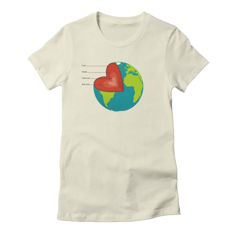 Love Earth Women's Fitted T-Shirt by dudesign's Artist Shop