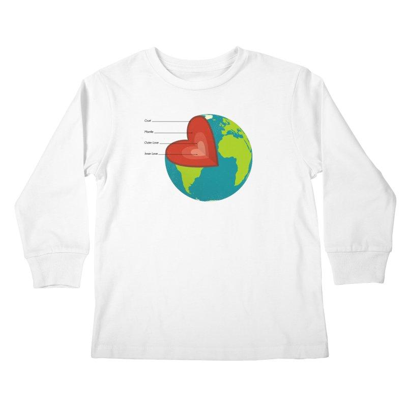 Love Earth Kids Longsleeve T-Shirt by dudesign's Artist Shop