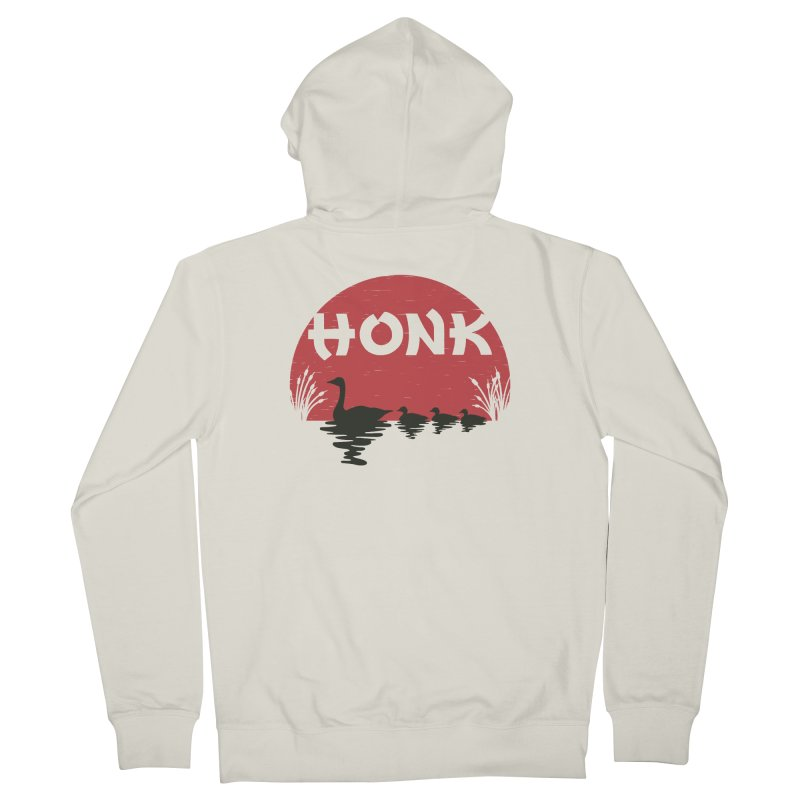 Honk Women's Zip-Up Hoody by dudesign's Artist Shop