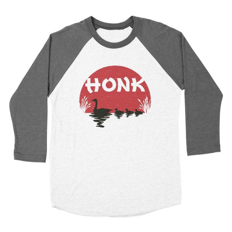 Honk Men's Baseball Triblend T-Shirt by dudesign's Artist Shop