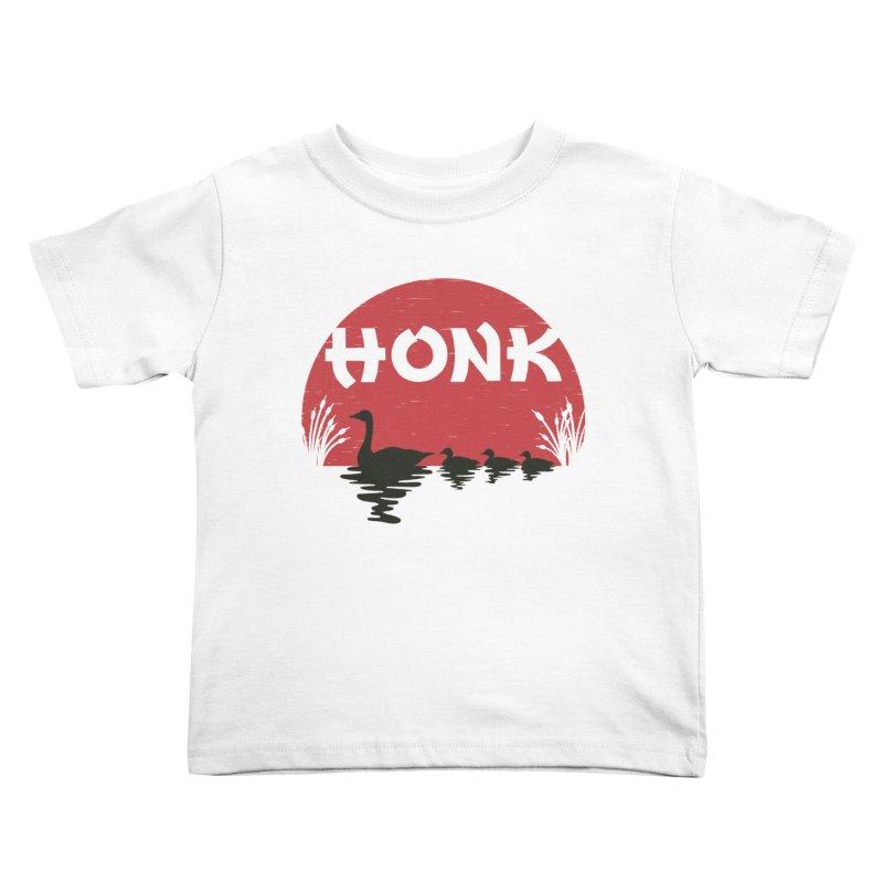 Honk Kids Toddler T-Shirt by dudesign's Artist Shop