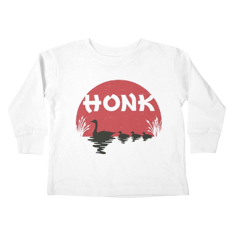 Honk Kids Toddler Longsleeve T-Shirt by dudesign's Artist Shop