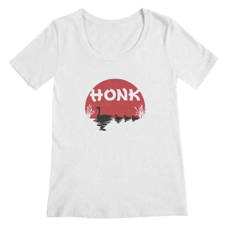 Honk Women's Scoopneck by dudesign's Artist Shop