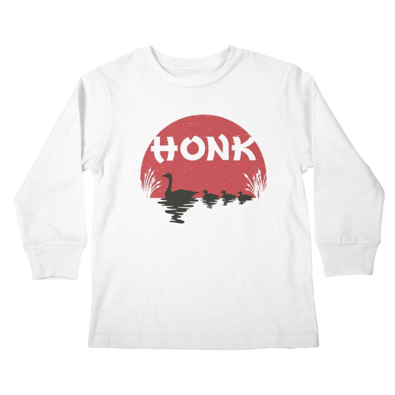 Honk Kids Longsleeve T-Shirt by dudesign's Artist Shop